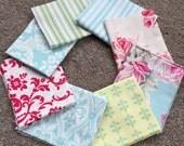 Fabric Destash no. 193, 194, 195, 196 -- 8 Fat Quarters