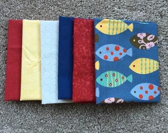 Fabric Destash no. 219, 220 -- 6 Fat Eighths