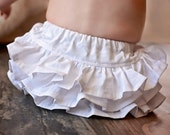 White Ruffle Bloomers Baby Girl 12 Solid Colors Newborn Diaper Cover Baby Shower Birthday Gift Summer Party Easter Skirt Photography Prop