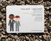 Gay Wedding Invitation Modern Couple Custom Wedding - Deposit