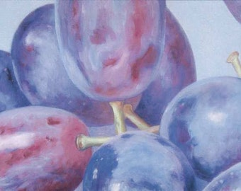 5  Greeting Cards with Grape Painting by KAZUMI Free Shipping