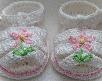 Cheryl's Crochet  CC65f-Grace Sandals Booties Pattern Pattern