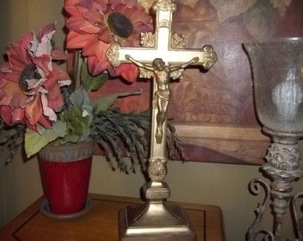Vintage Brass Jesus on the Cross