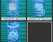 Susan Bates - Luxite Bone Rings - assorted sizes - 1 pkg