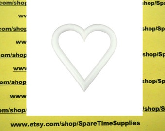 """XTH6W Styrofoam heart - (extruded) - approx. 6"""" wide x 6"""" tall x 1"""" thick - white - 1 pc"""