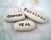 Positive Affirmation Words, Cancer Awareness, Get Well Gift, Survivor, Courage, Heal