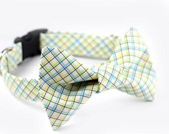 Tartan Bowtie Dog Collar - Wedding Collar - Aberdeen Plaid