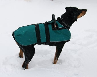 Service Dog Coat - fits over a mobility or guide dog harness - XL - Adjustable - size 24 through 26
