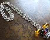 Madame Acrylic and Glass Chain necklace