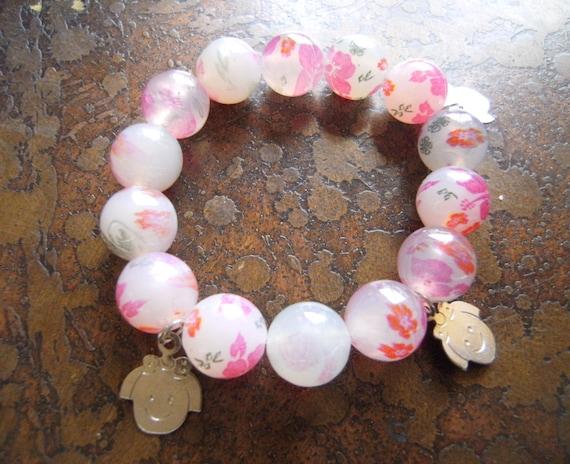 Garden Girl Glass Beaded Stretch bracelet