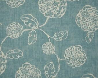 Magnolia adele ocean blue valance floral valance