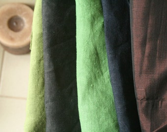 LINEN and SILK FABRIC / remnants / 10 pieces / linen fabric / silk fabric / australia / running threads