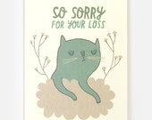 Cat Sympathy - Greeting Card
