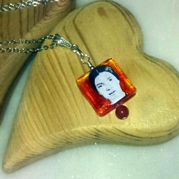 Emily Dickinson and Emily Bronte Pendant (Two Emilies Pendant)