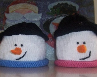 Instant Download / Pattern for Snowman Hat with or without Earflaps / All Instructions size Newborn to Adult / debrobinson / Deb Robinson