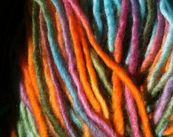 Waldorf Doll / Handspun Handpainted Yarn / Verde Gems /