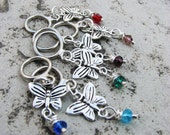 Colorful Butterfly Non-Snag Stitch Markers