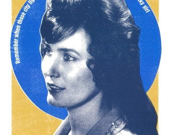 Loretta Lynn Blue Kentucky Girl Inspired Screen Print by Print Mafia