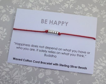 Be Happy Friendship Bracelet