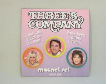 Three's Company classic TV magnet set
