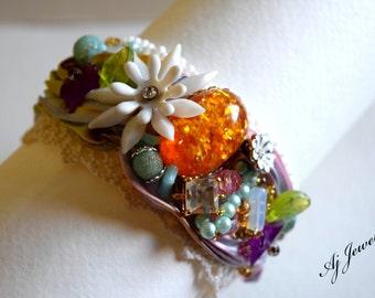 Shibori Silk Bracelet Summer Fun