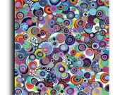 Colorful Circles Art Abstract Modern Contemporary Art Gallery Stretched Canvas Print Elena