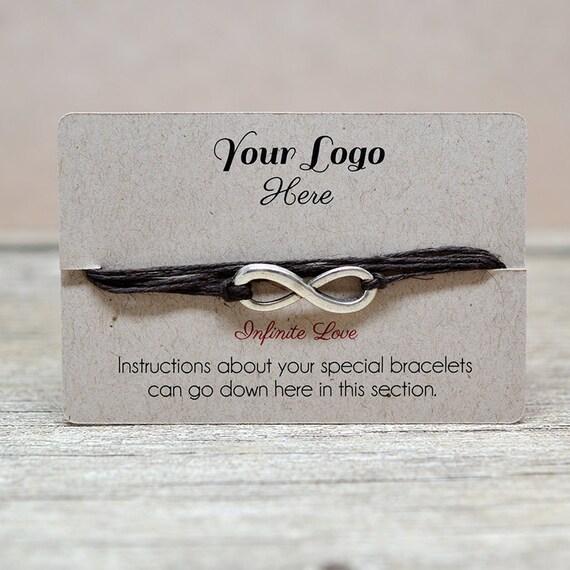 Diy Bracelet Display Card: Custom Bracelet Display Cards Wish Bracelets String Thin