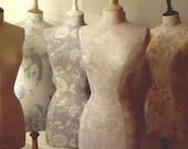 Display Mannequin Laura Ashley Fabric Mannequin Dressform Wedding Dress- Keri in Chalk Pink