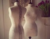 Interior Design Mannequin Beautiful English Fabric Kate Forman Linen Display Dressform - Sophia in Grey