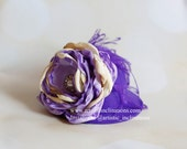 Timeless Couture - Purple Mini Top Hat with Handmade Flower - RESERVED LISTING for JESSIE
