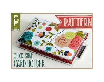 Vinyl Card Holder Wallet Sewing Pattern PDF - / vinyl wallet, tutorial, template, craft supplies, sewing, paper wallet, how to, DIY,