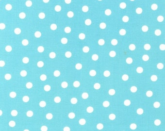 Ann Kelle's Remix Dots in Aqua, yard