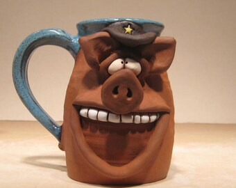 Happy Boss Hog Mug ...  Happy  Oinker .....    e750