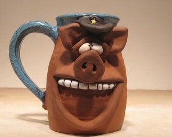 Happy Boss Hog Mug ...  Happy  Oinker .....    e750
