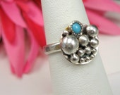 Sterling Silver Turquoise Ring Size 6 - R-072