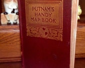 1920 Putnam's Handy Map Book - All Countries and US States with Index  -  4-1/4 in x 6-1/4 in  - 320 pages  - Color Maps