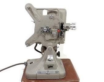 Vintage Belmont 16MM Film Projector/ Film Editing Drawer/ Hard Cover Case