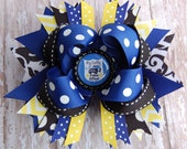 Police Officer Bow - Police Daddy Bow - Police Daughter - Police Baby - My Daddy's a Police Officer Bow - Headband Bow - Toddler Bows