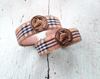 Equestrian Plaid Cuffs