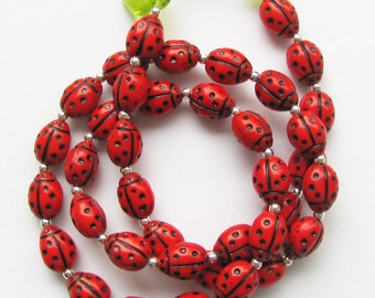 Necklace Ladybugs are there