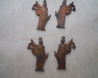 Vintage Oxidized Justice Charms