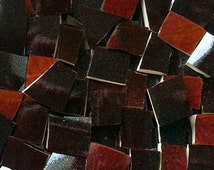 Mosaic Tiles--Brown Glaze -- 100 tiles