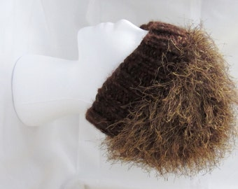 warm winter ski fun and furry fuzzy browadult unisex hat