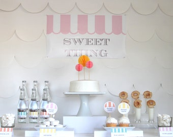 PRINTABLE sweet shoppe party decor, labels and signs- essential party kit by kojodesigns