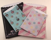 Treat Bags - The Sweet Life - 4 pcs - planner, scrapbooking, packaging, gift wrapping, card making