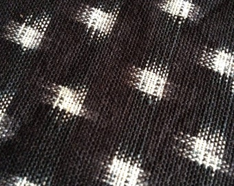 Sale HALF YARD Ikat handwoven black and white kasuri cotton fabric
