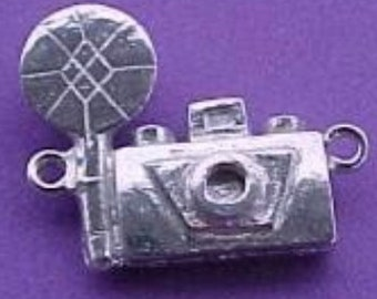 old fashioned camera charm   pewter no lead supplies for jewelry  findings 3D made in America  WV3
