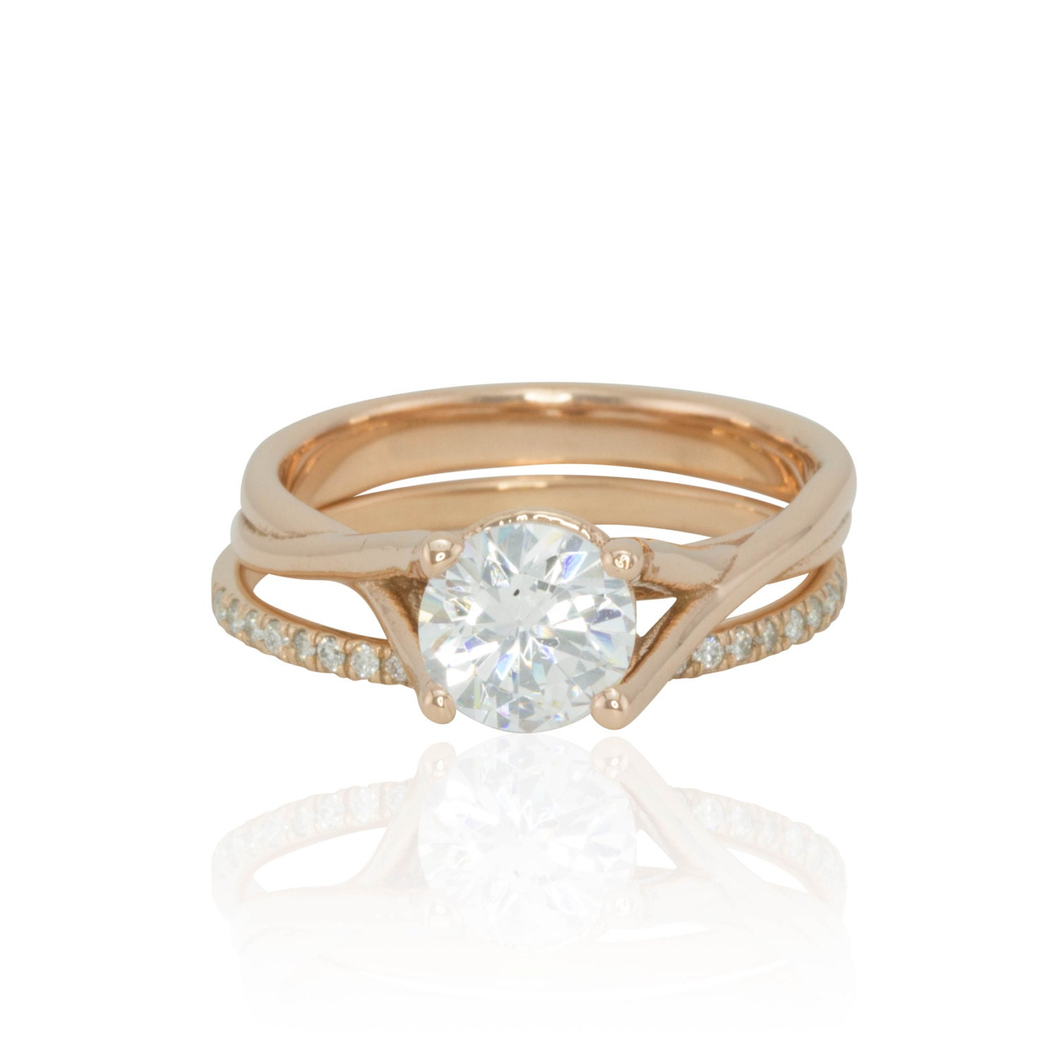 ring solitaire engagement ring with plain