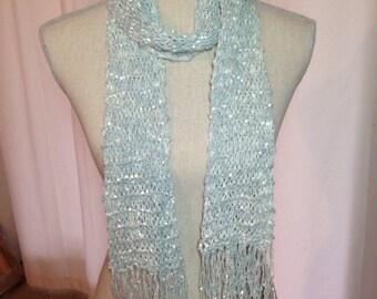 Hand Knit Silk Scarf