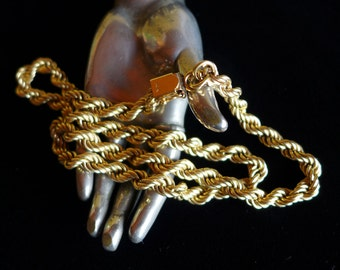 """Vintage 14k Gold Rope Chain 20"""""""